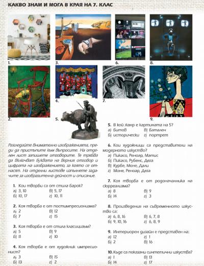 7 клас Изобразително изкуство 9.06.2020г 1